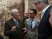 Gilbert and George opening,  The General Jungle or Carrying on Sculpting. Levy Gorvy Gallerty. Old Bond St. London. 12 September 2017