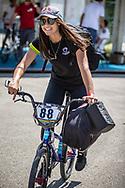 Women Elite #88 (SAKAKIBARA Saya) AUS arriving on race day at the 2018 UCI BMX World Championships in Baku, Azerbaijan.