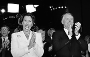 Former Vice President Dan Quayle and his wife Marilyn Quayle at the 1996 Republican National Convention in San Diego, California.