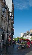 Rennes, FRANCE. General Views GV's. Rennes weekly regional market. Brittany,<br /> Vegetable's, Fruit, Flowers, Fish, Game, Meat, Cheese, local wine and cider, sold from stalls in the open and covered market  <br /> <br /> 08:49:05  Saturday  26/04/2014 <br /> <br />  [Mandatory Credit: Peter Spurrier/Intersport<br /> Images]