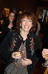 Writer BEL MOONEY at a party to celebrate the publication of an autobiography by the late Jack Rosenthal at The Fine Art Society, 148 New Bond Street, London W1 on 21st April 2005.<br />
