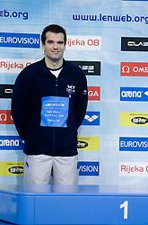 Winner at Men`s 100m Individual Medley Peter Mankoc (9th times European Champion) at day 4 of LEN European Short Course Swimming Championships Rijeka 2008, on December 14, 2008,  in Kantrida pool, Rijeka, Croatia. (Photo by Vid Ponikvar / Sportida)