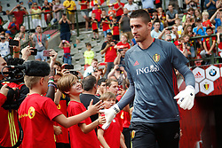June 3, 2017 - Brussels, BELGIUM - Belgium's goalkeeper Koen Casteels arrives for a training of Belgian national soccer team Red Devils, Saturday 03 June 2017, in Brussels. Belgium plays a friendly game against Czech Republic on 05 June and a World Cup 2018 qualifier in Estonia. BELGA PHOTO BRUNO FAHY (Credit Image: © Bruno Fahy/Belga via ZUMA Press)