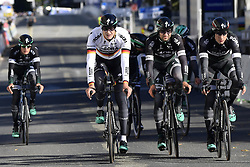 September 16, 2017 - Bergen, Norway - BERGEN, NORWAY - SEPTEMBER 16 : Team Bora Hansgrohe pictured during the reconnaisance of the Team Time Trial 2017 World Road Championship cycling race on September 16, 2017 in Bergen, Norway, 16/09/2017 (Credit Image: © Panoramic via ZUMA Press)