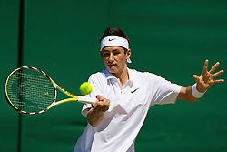 LONDON, ENGLAND - Tuesday, July 1, 2008: Bernard Tomic (AUS) during his boy's singles second round match on day eight of the Wimbledon Lawn Tennis Championships at the All England Lawn Tennis and Croquet Club. (Photo by David Rawcliffe/Propaganda)