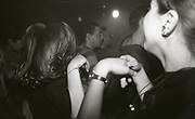 People clubbing at The Boardwalk in Manchester, October 1991.