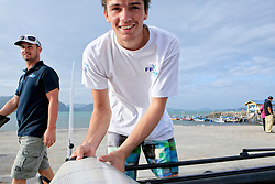 Louis Flament, French Sailing Team, Day4, 2015 Youth Sailing World Championships,<br />Langkawi, Malaysia