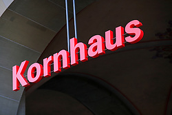 SWITZERLAND BERN 1MAR12 - Kornhaus restaurant logo in Bern city centre,  Switzerland.....jre/Photo by Jiri Rezac....© Jiri Rezac 2012