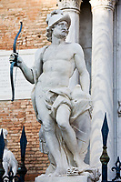statue of mars ares in the beautiful city of venice in italy