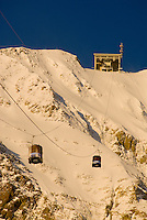 The Lone Peak tram heads for the summit of Big Sky Resort in Big Sky, Montana.