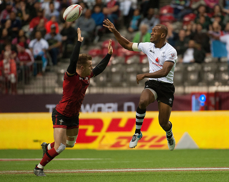 Fiji play Wales during the pool stages of the Canada Sevens,  Round Six of the World Rugby HSBC Sevens Series in Vancouver, British Columbia, Saturday March 11, 2017. <br /> <br /> Jack Megaw.<br /> <br /> www.jackmegaw.com<br /> <br /> jack@jackmegaw.com<br /> @jackmegawphoto<br /> [US] +1 610.764.3094<br /> [UK] +44 07481 764811