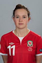 TREFOREST, WALES - Tuesday, February 14, 2011: Wales' Cheryl Foster. (Pic by David Rawcliffe/Propaganda)