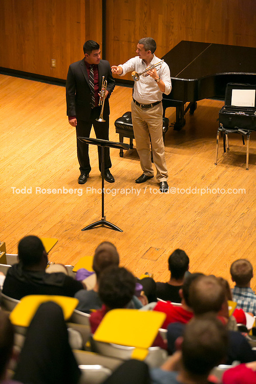 10/12/13 4:21:16 PM Chicago Symphony Orchestra Master classes at the University of Illinois in Champaign, Urbana. <br /> <br />  &copy; Todd Rosenberg Photography 2013