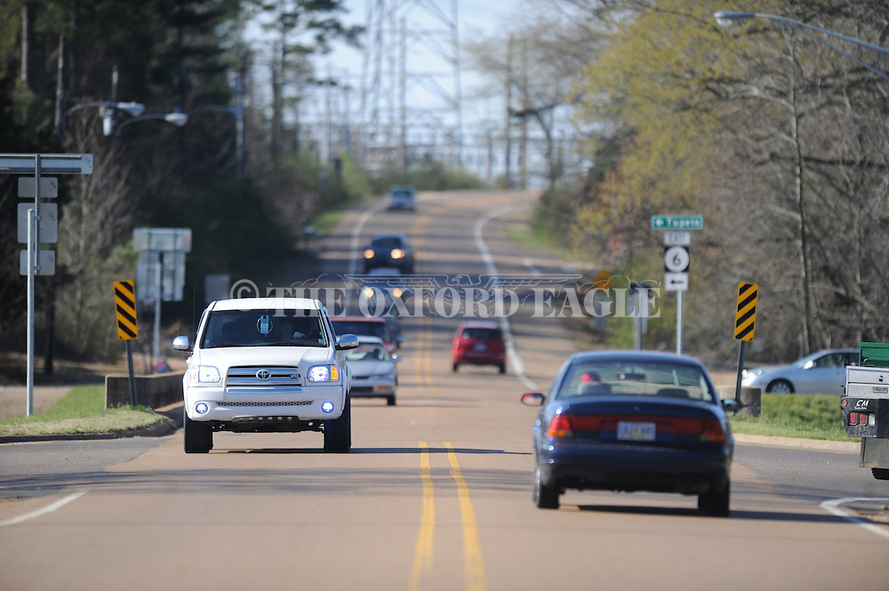 Plans call for for roundabouts to be built by 2015 on Old Taylor Road near the bridge across Highway 6 in Oxford, Miss., on Wednesday, March 20, 2013. Plans also call for Old Taylor Road south of Hughway 6 to be widened to four lanes by 2017.