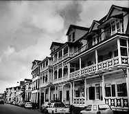 Central Paramaribo is a UNESCO World Heritage site, and repository for stunning examples of 17th through 19th century wooden architecture.  Paramaribo, Suriname.