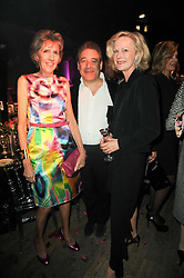 Left to right, LADY JANE SPENCER-CHURCHILL, TOM GOLDSTAUB and JANE PROCTER at 'Superficial Butterfly' a party hosted by Amanda Eliasch to celebrate her 50th birthday held at Number One Mayfair (St Marks Church) North Audley Street, London on 12th May 2010.
