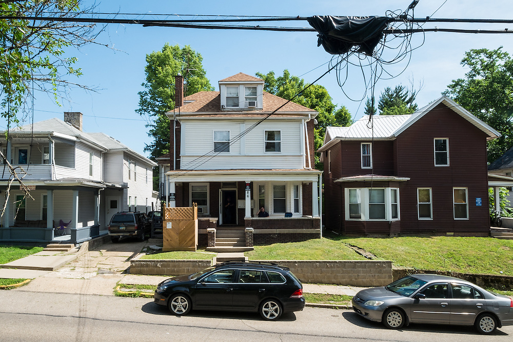 The L'Heureux Properties rental property at 86 West State Street was site of an energy audit Wednesday, June 24, 2015.  Photo by Ohio University  /  Rob Hardin