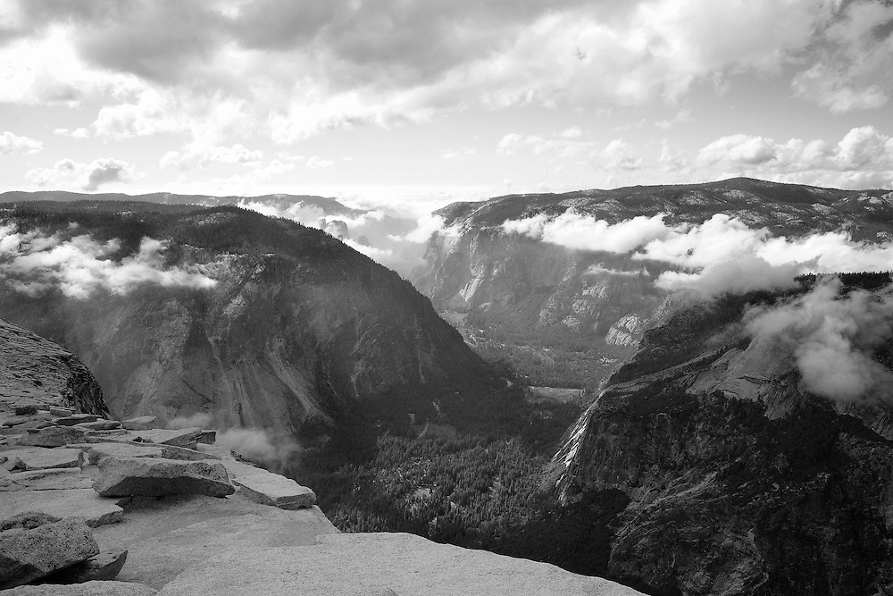 Top Of Half Dome West Overlook - Yosemite - Black & White