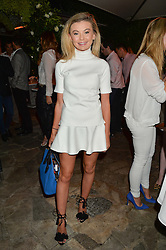 GEORGIA TOFFOLO at a reception hosted by Tiffany Watson in aid of The Eve Appeal held at The Phene, 9 Phene Street, London on 8th September 2015.