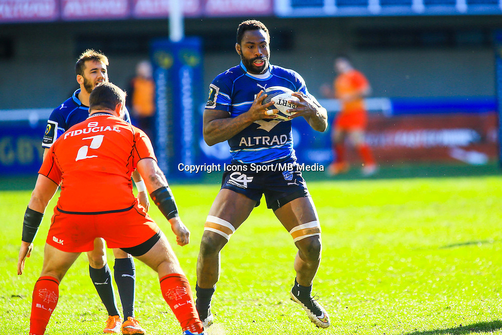 Fulgence OUEDRAOGO - 25.01.2015 -  Montpellier / Toulouse - European Champions Cup <br /> Photo : Nicolas Guyonnet / Icon Sport