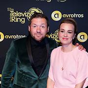 NLD/Amsterdam/20181011 - Televizier Gala 2018, Klaas van Eerden en partner Anna de Beus