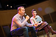 Sir Chris Hoy takes part in the The Biggest Book Show on Earth at the Glasgow Royal Concert Hall, Glasgow,Scotland, 27/02/2017 <br /> <br /> The Biggest Book Show on Earth is organised by World Book Day UK as part of the annual celebration of books and reading.Glasgow Royal Concert Hall, Glasgow, 27/02/2017