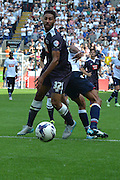 Ryan Shotton watches the ball to safety during the Sky Bet Championship match between Bolton Wanderers and Derby County at the Macron Stadium, Bolton, England on 8 August 2015. Photo by Mark Pollitt.