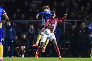 Northampton Town midfielder (on loan from Nottingham Forest) Gboly Ariybi (45) controls under pressure during the EFL Sky Bet League 1 match between Northampton Town and Shrewsbury Town at Sixfields Stadium, Northampton, England on 20 March 2018. Picture by Dennis Goodwin.