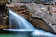 The Basin in Franconia State Park, New Hampshire, USA.