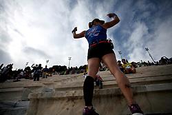 November 12, 2017 - Athens, Attica, Greece - A woman poses during the 35th Athens Classic Marathon in Athens, Greece, November 12, 2017. (Credit Image: © Giorgos Georgiou/NurPhoto via ZUMA Press)