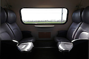 train window view with empty seats Holland