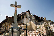 A church completely destroyed after a 7.0 earthquake rocked Haiti in Port-au-Prince on Feb. 2, 2010.
