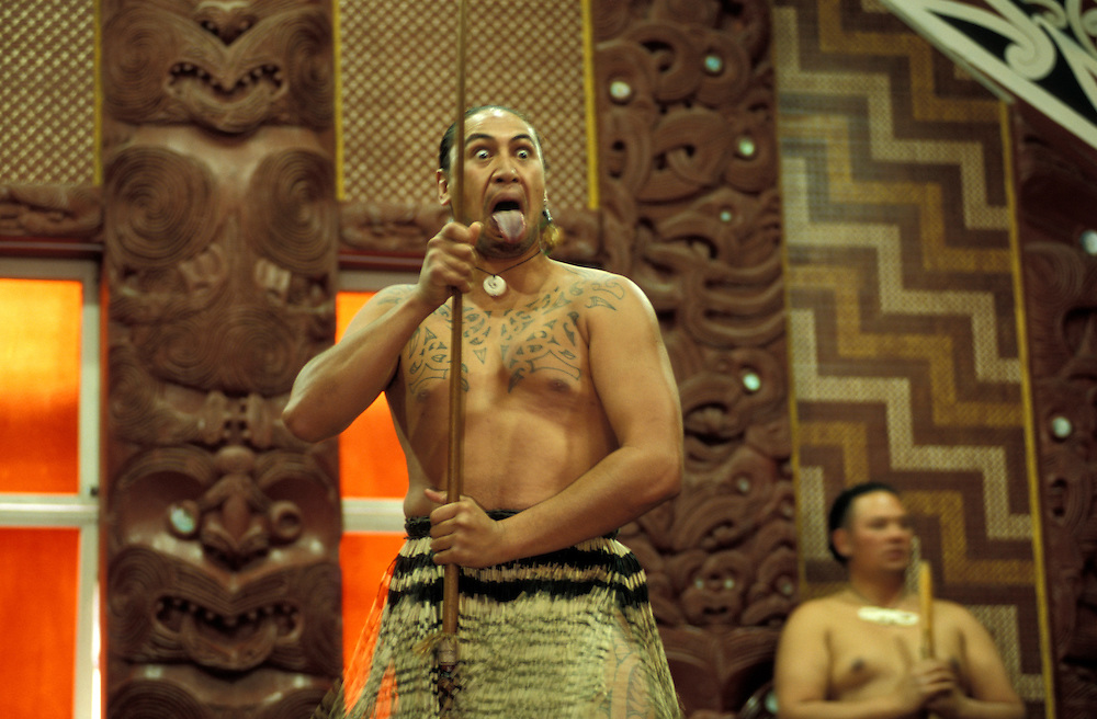 Maori Dance Performance, Maori Arts and Crafts Institute, Rotorua, North Island, New Zealand