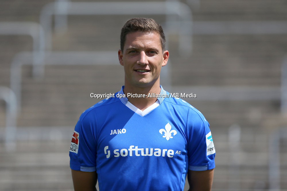 German Soccer Bundesliga 2015/16, Photocall SV Darmstadt 98 on July 30, 2015. Player Michael Stegmayer