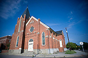 St Joseph's Church, the backside of Hayti Heritage Center in Durham, NC. St Joseph's has been transformed into the center's performing arts hall.
