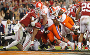 Clemson Tigers running back Wayne Gallman (9) scores a touchdown in the fourth quarter of the National Championship at Raymond James Stadium in Tampa, Monday, January 9, 2017.