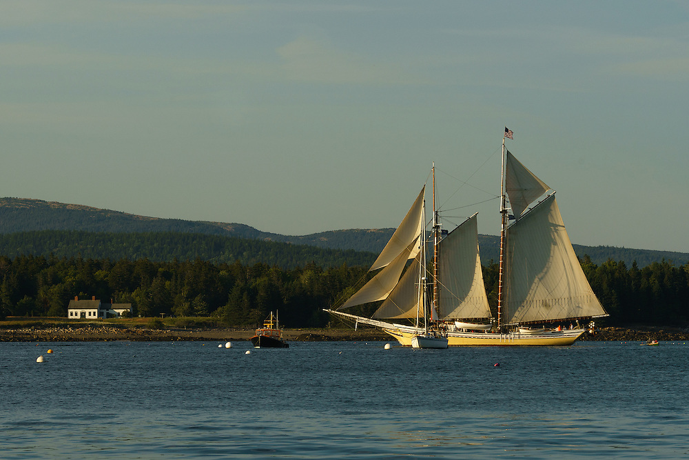 Tall Ship seen from Manset, Southwest Harbor, Maine