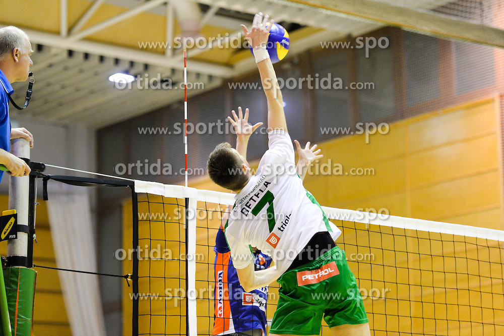 Jernej Detela of Panvita Pomgrad during volleyball game between OK Panvita Pomgrad and ACH Volley in 2nd semifinal match of  Slovenian National Championship 2015, on April 5, 2015 in Murska Sobota, Slovenia. Photo by Mario Horvat / Sportida