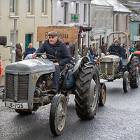 Vintage Tractors taking part in the Tulla St Patrick's Day Parade