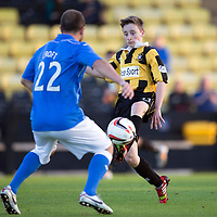 East Fife v St Johnstone...09.07.14  Pre-Season Friendly<br /> Lee Croft closes down David Maskrey son of saints legend Steve Maskrey<br /> Picture by Graeme Hart.<br /> Copyright Perthshire Picture Agency<br /> Tel: 01738 623350  Mobile: 07990 594431