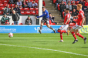 Craig Jones puts Bury ahead after 6 mins during the Sky Bet League 1 match between Walsall and Bury at the Banks's Stadium, Walsall, England on 5 September 2015. Photo by Shane Healey.