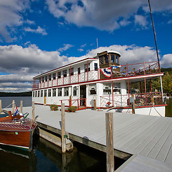 The M.V. Kearsarge on Lake Sunapee in Sunapee, New Hampshire.