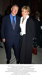 SIR TERENCE & LADY CONRAN at a reception in London on 11th March 2004.PSI 12