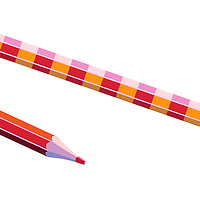 Striped pencils
