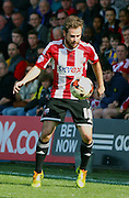 Alan Judge ball copntrol during the Sky Bet Championship match between Brentford and Nottingham Forest at Griffin Park, London, England on 6 April 2015. Photo by Matthew Redman.