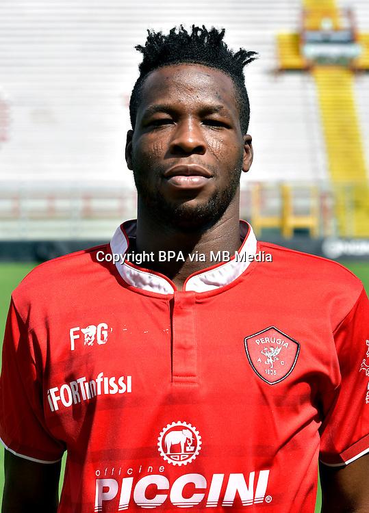 Italian League Serie B_2015-2016 / <br /> ( AC Perugia 1905 ) - <br /> Masahudu Alhassan