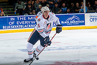 KELOWNA, CANADA - SEPTEMBER 24: Dallas Valentine #6 of the Kamloops Blazers skates against the Kelowna Rockets on September 24, 2016 at Prospera Place in Kelowna, British Columbia, Canada.  (Photo by Marissa Baecker/Shoot the Breeze)  *** Local Caption *** Dallas Valentine;