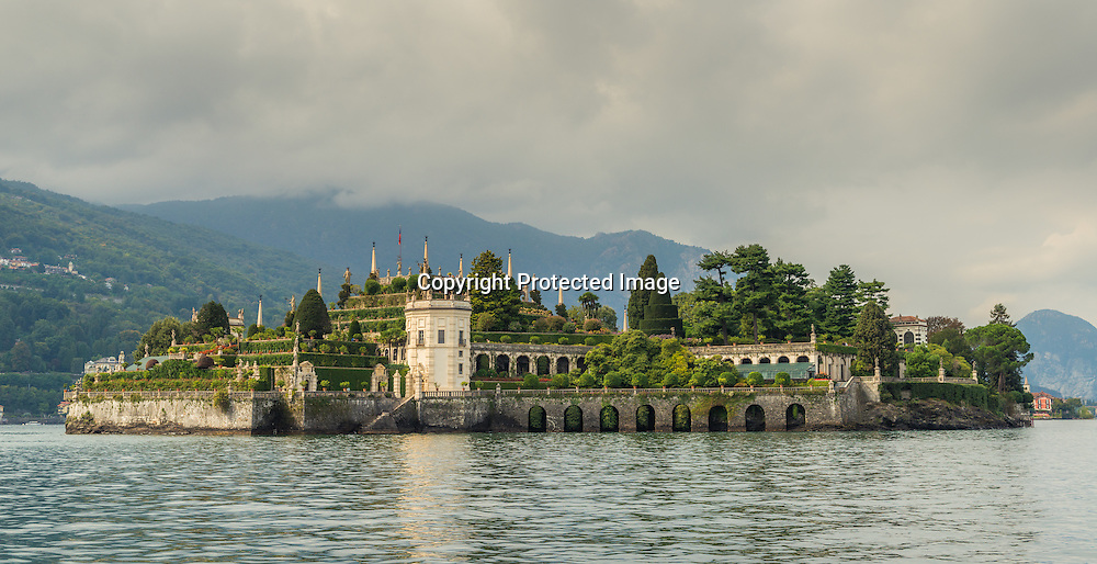 Panorama of Isola Bella on Maggiore lake, Italy