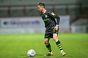 Forest Green Rovers Elliott Frear(17) on the ball during the EFL Sky Bet League 2 match between Morecambe and Forest Green Rovers at the Globe Arena, Morecambe, England on 22 October 2019.