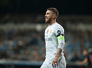 Sergio Ramos of Real Madrid during the UEFA Champions League match at the Estadio Santiago Bernabeu, Madrid<br /> Picture by Marcos Calvo Mesa/Focus Images Ltd +34 654142934<br /> 03/11/2015